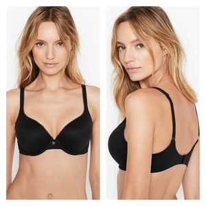 Victoria's Secret   Black Lined Demi Bra   34A